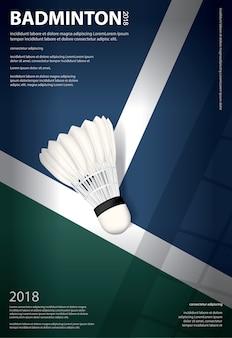 Badminton kampioenschap poster illustratie