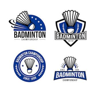 Badminton logo badge sjabloon