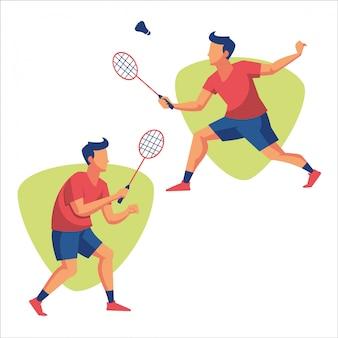 Badminton sport atleet-speler
