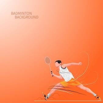 Badminton sprong speler achtergrond