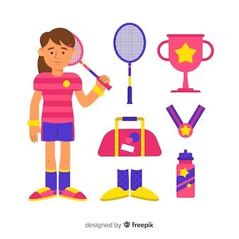 Badminton-uitrusting