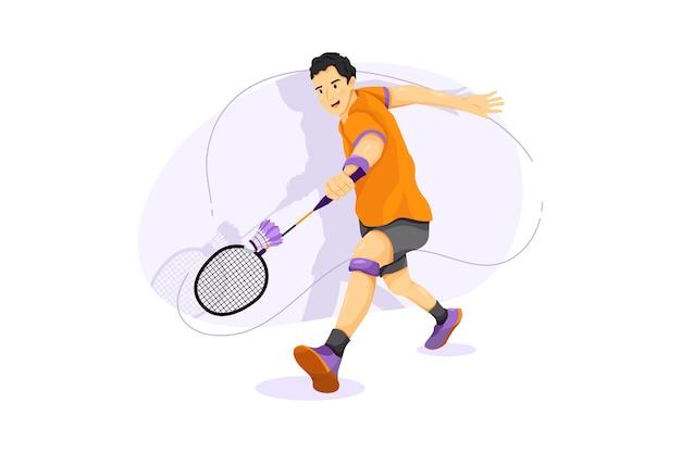 Badminton vector illustratie concept