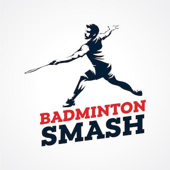 Badminton vector logo, premium silhouet vector