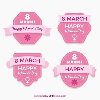 Badmintonbadge voor dames van 8 maart