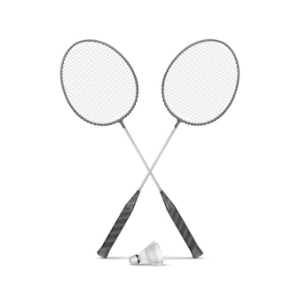Badmintonrackets met shuttle
