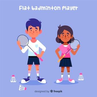 Badmintonspelers