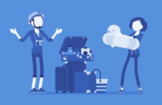 Bagage inpakken voor op reis