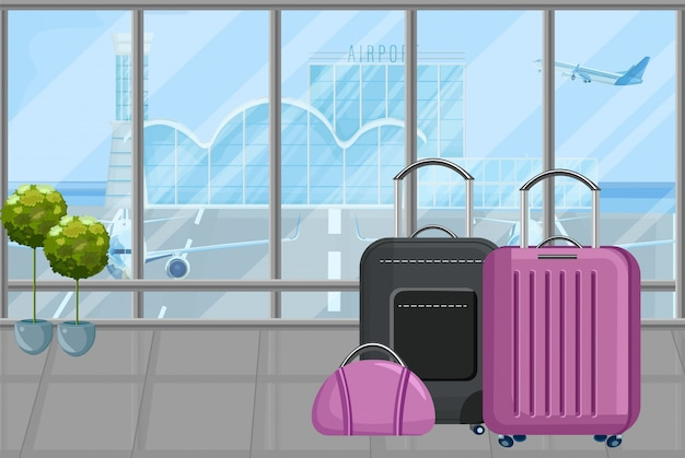 Bagage op de luchthaven