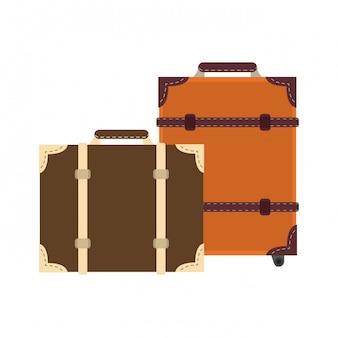 Bagage-uitrusting voor de reis