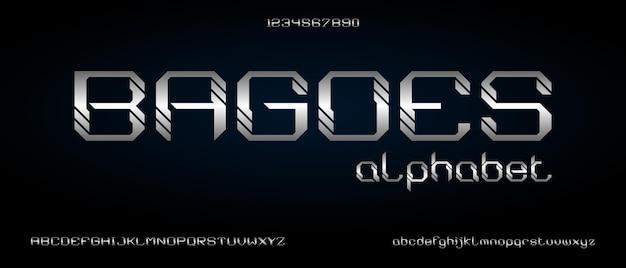 Bagoes, digitaal modern alfabetlettertype met stedelijke stijlsjabloon