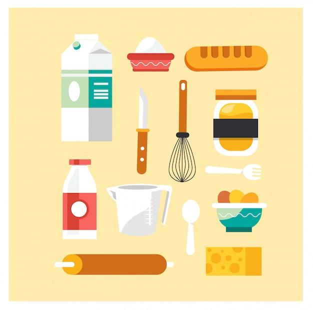 Bakken tools voor het bakken van een brood