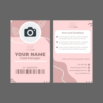 Bakkerij advertentie sjabloon identiteitskaart