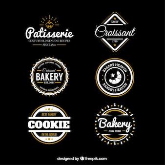 Bakkerij badges in retro stijl