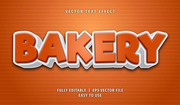 Bakkerij bewerkbare teksteffectstijl