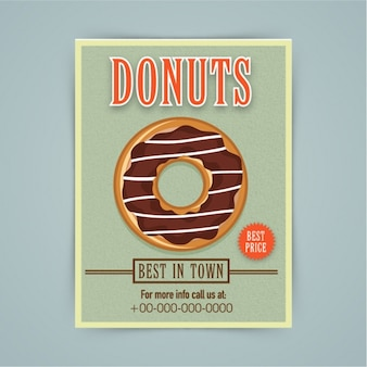 Bakkerij brochure met chocolade donut