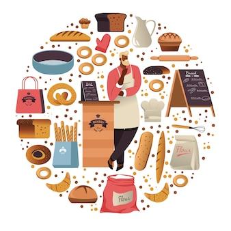 Bakkerij brood maken en ellinghop met productie