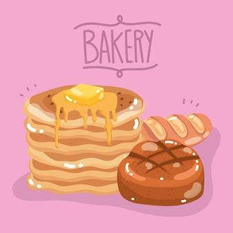 Bakkerij brood pannenkoeken