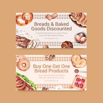 Bakkerij coupon sjablonen