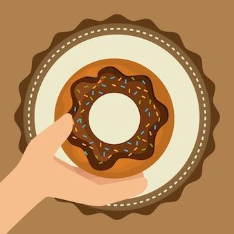 Bakkerij, dessert en melkbar ontwerp.