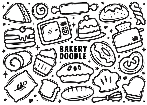 Bakkerij element doodle