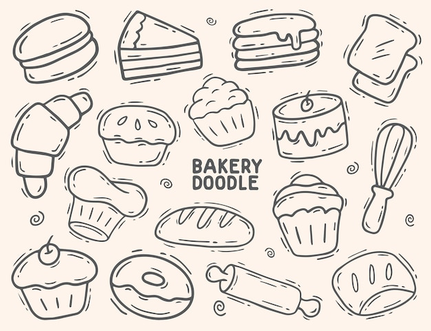 Bakkerij en cake doodle element