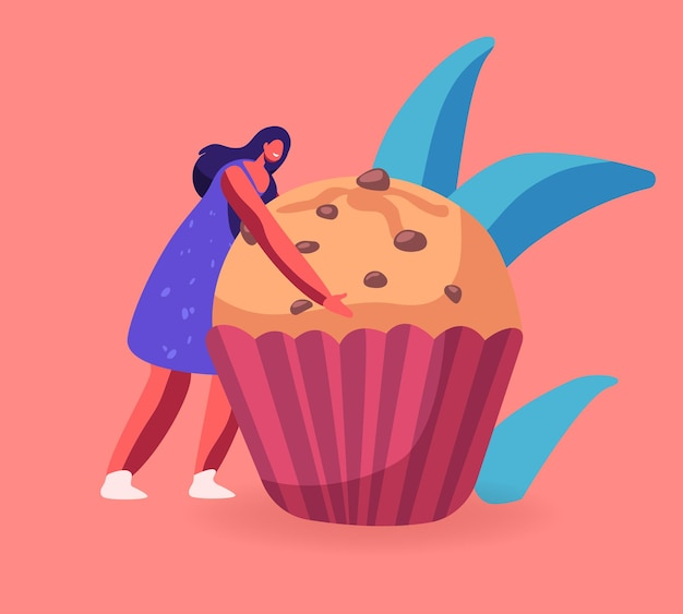 Bakkerij en zoet voedselconcept. cartoon vlakke afbeelding