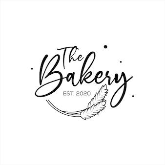Bakkerij logo design met kalligrafie typo
