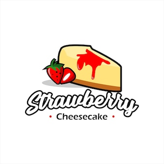 Bakkerij logo design slice cake vector