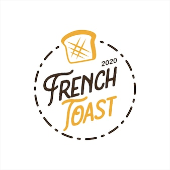 Bakkerij logo ontwerp franse toast vector