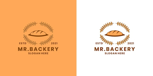 Bakkerij logo ontwerpsjabloon voor restaurant