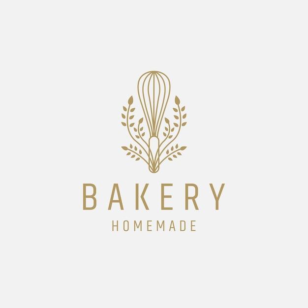 Bakkerij logo pictogram ontwerp sjabloon platte vector