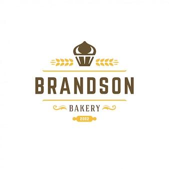 Bakkerij logo retro