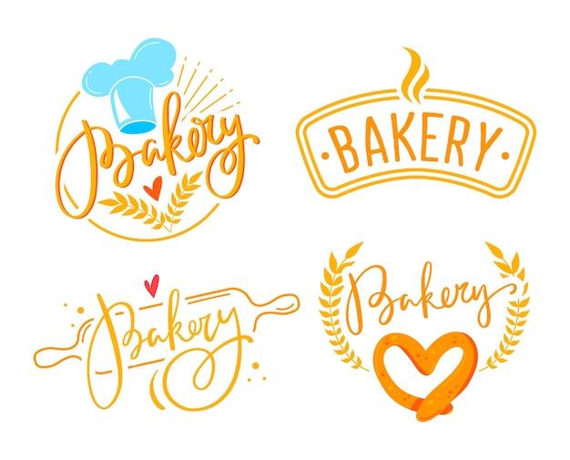 Bakkerij logo set