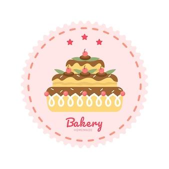 Bakkerij logo sjabloon bakkerij pictogram bakkerij badges etiketten pictogrammen