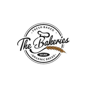 Bakkerij logo sjabloon
