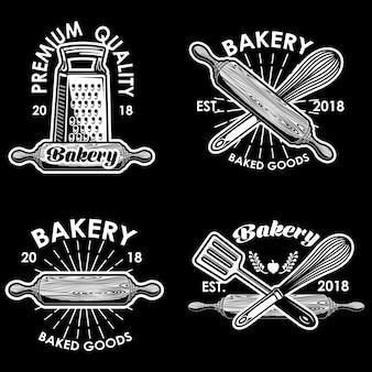 Bakkerij logo vector illustratie instellen