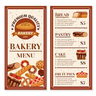 Bakkerij menu ontwerp