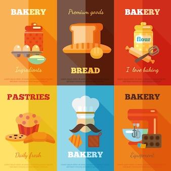Bakkerij mini-poster set