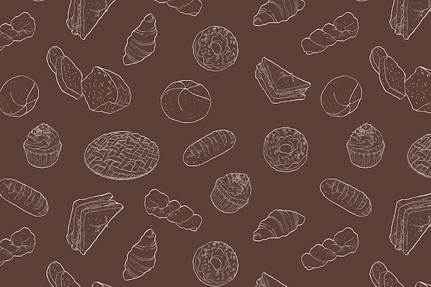 Bakkerij naadloos patroon