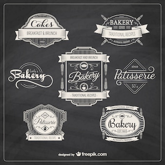 Bakkerij retro badges