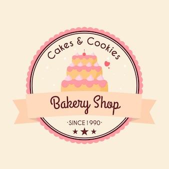 Bakkerij taart logo concept