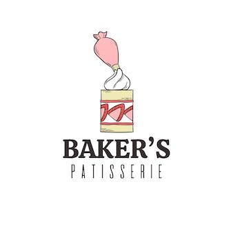 Bakkerij taart logo ontwerp