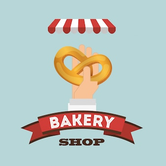 Bakkerij winkel illustratie