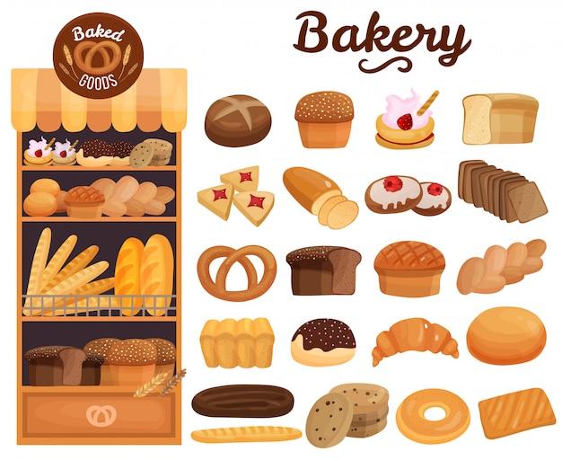 Bakkerijproducten set