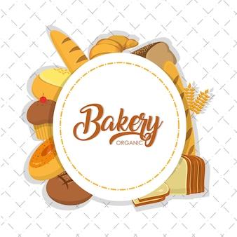 Bakkerijproductos rond symbool