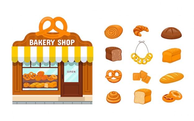 Bakkerijwinkel en bakkerijproducten