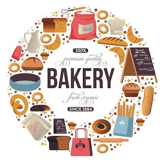Bakkerijwinkel eten van premium kwaliteit in de winkel
