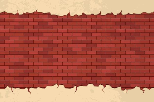 Baksteen scheuren op muur illustratie