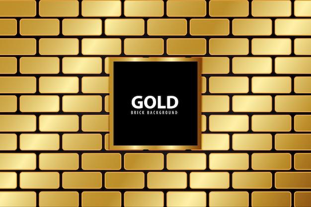 Bakstenen gouden achtergrond