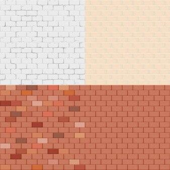 Bakstenen muur ingesteld naadloos patroon